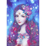 5D DIY Special Shaped Diamond Painting Girl Embroidery Craft Kit Home Decor