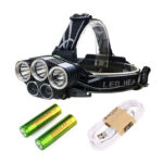 3xT6+2xXPE 1500LM 15W LED Headlamp Rechargeable Head Light Flashlight Torch