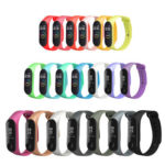 20 Colors Silicone Watch Band Replace for Xiaomi Mi Band 3/4 Smart Bracelet