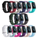 15x Wrist Straps 15 Colors Silicone Sports Wristband Bracelet for Charge 3