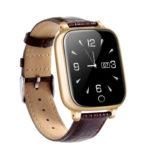 Touch Screen GPS Tracker Anti-Lost Locator Elder Men Smart Watch (Coffee)