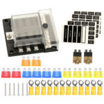 12V 32V 6-Way Car Boat Marine Blade Fuse Box Modular Bus Bar Fuse Holder