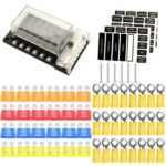 12V 32V 12-Way Car Boat Marine Blade Fuse Box Modular Bus Bar Fuse Holder