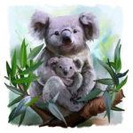 5D DIY Full Drill Diamond Painting Koala Cross Stitch Embroidery Mosaic Kit