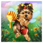 5D DIY Full Drill Diamond Painting Dog Cross Stitch Embroidery Mosaic Kit