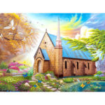 5D DIY Full Drill Diamond Painting House Cross Stitch Mosaic Kit Home Decor