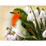 5D DIY Full Drill Diamond Painting Bird Cross Stitch Embroidery Mosaic Kit