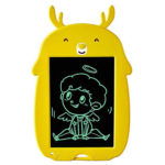8.5 inch LCD Writing Pad Cartoon Drawing Electronic Graphic Board (Yellow)