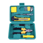11pcs Household Car Repair Tool Kit Screwdriver+Wire Pliers+Wrench+Toolbox