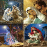 5D DIY Full Drill Diamond Painting Birth of Jesus Cross Stitch Kit (B017)