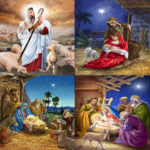 5D DIY Full Drill Diamond Painting Birth of Jesus Cross Stitch Kit (B026)
