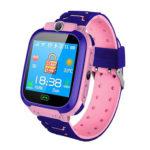 Q12 Non-Waterproof Heart Rate LBS Locator Kids Smart Watch Phone (Pink)