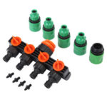 Hose Splitters Irrigation Adapter 4-way Water Hose Connectors for Gardening