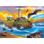 5D DIY Full Drill Diamond Painting Sea House Cross Stitch Embroidery Gift