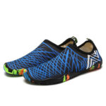 Swimming Shoes Outdoor Seaside Beach Quick Dry Footwear Black Blue (44)