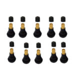 10pcs TR412 Tubeless Tire Valves Snap-in Valve Stems for Car Motorcycle