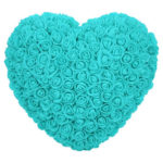 Preserved Rose Love Shape Artificial Flower Valentine Birthday Gift (Green)