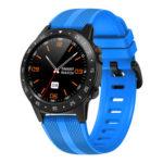 M5S Waterproof Sport Heart Rate Monitor Touch Screen GPS Smartwatch (Blue)