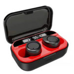 X5 TWS Bluetooth Earphones LED Power Display Sports In-ear Earbuds (Red)