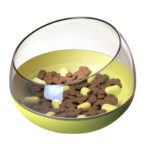 Cat Shaking Leakage Food Container Dog Slow Feed Pet Tumbler Toy (Yellow)