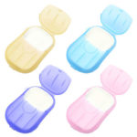 20pcs/Box Disposable Soap Papers Portable Travel Hand Washing Scented Slice