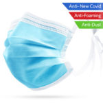 50pcs Disposable Masks Nonwoven Anti-Dust Medical Surgical Face Mouth Mask