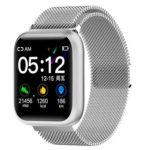 F11 Smart Bracelet Heart Rate Sleep Monitor IP68 Smart Watch (Silver Metal)