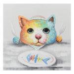 5D DIY Full Drill Diamond Painting Cat Fishbone Cross Stitch Embroidery Kit