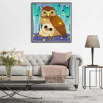 5D DIY Full Drill Diamond Painting Owls Cross Stitch Embroidery Ornaments