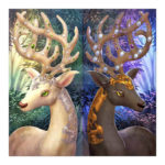 5D DIY Full Drill Diamond Painting Deer Cross Stitch Embroidery Ornaments