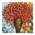 5D DIY Full Drill Diamond Painting Oil Painting Flower Embroidery Kit (Red)