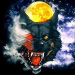 5D DIY Full Drill Diamond Painting Wolf and Moon Cross Stitch Craft Kit
