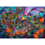 5D DIY Full Drill Diamond Painting Cactus Flower Cross Stitch Embroidery