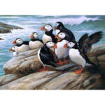 5D DIY Full Drill Diamond Painting Puffin Cross Stitch Embroidery Art Craft