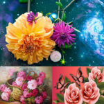 5D DIY Full Drill Diamond Painting Flowers Cross Stitch Mosaic Kit (WX087)