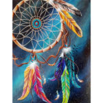 5D DIY Full Drill Diamond Painting Dreamcatcher Cross Stitch Mosaic Kit