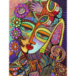 5D DIY Full Drill Diamond Painting Human Face Embroidery Mosaic Craft Kit