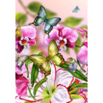 5D DIY Full Drill Diamond Painting Butterfly Embroidery Mosaic Kit (B417)