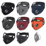 WEST BIKING Cycling Mouth Mask KN95 PM 2.5 Reuse Carbon Filter Face Mask