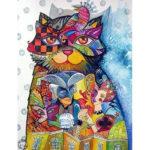 5D DIY Full Drill Diamond Painting Cat Embroidery Mosaic Craft Wall Arts