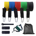 11pcs/set Resistance Band Latex Elastic Pull Rope Home Fitness Equipment