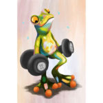5D DIY Full Drill Diamond Painting Fitness Frog Embroidery Mosaic Craft Kit