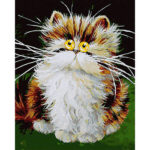 5D DIY Full Drill Diamond Painting Old Cat Cross Stitch Embroidery Mosaic