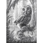 5D DIY Full Drill Diamond Painting Owl Cross Stitch Mosaic Kit Home Decor