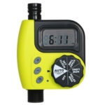 Plastic Programmable Garden Watering Timer Irrigation Controller (Yellow)
