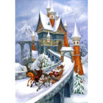 5D DIY Full Drill Diamond Painting Santa Castle Cross Stitch Embroidery Kit
