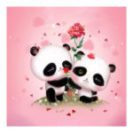 5D DIY Full Drill Diamond Painting Panda Cross Stitch Embroidery (C1086)