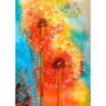 5D DIY Full Drill Diamond Painting Dandelion Cross Stitch Embroidery Gift