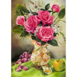 5D DIY Full Drill Diamond Painting Flower Fruit Cross Stitch Embroidery Kit