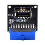 USB 3.1 Type C Front Panel Socket Board USB3.0 19Pin to TYPE-E 20Pin Module